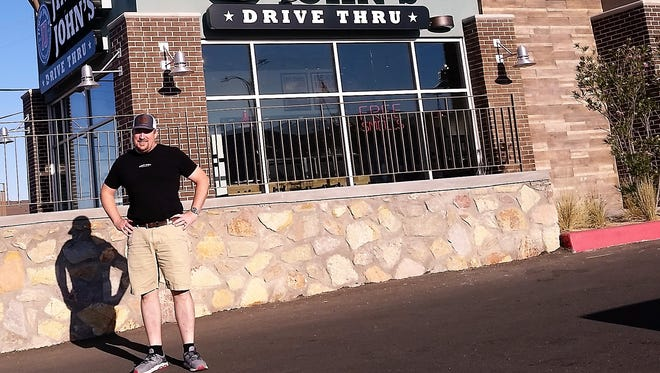 Chris Lyons, owner of the El Paso and Las Cruces Jimmy John's franchises, outside his newest location at 1115 Airway Blvd.
