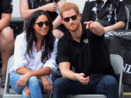 Prince Harry and his girlfriend Meghan Markle at wheelchair