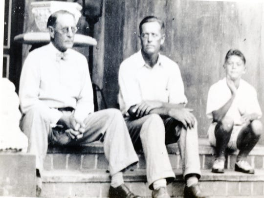 From left, C. Perry Snell, Getty Snell, Perry Gayden