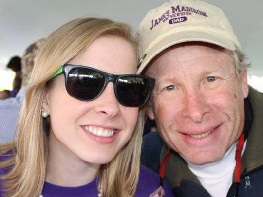 Alison and Andy Parker. Andy Parker, father of Alison Parker the reporter who was killed on live TV last week