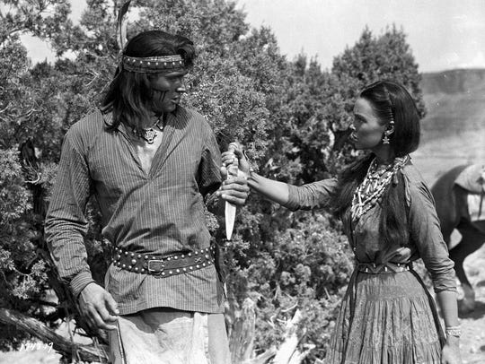 Rock Hudson and Barbara Rush in Taza, Son of Cochise