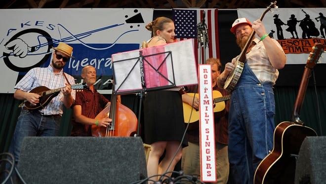The Roe Family Singers performing on August 8th at the Minnesota Bluegrass and Old-Time Music Festival. The festival features music and workshops and goes through August 10th at Rancho Manana in Richmond.