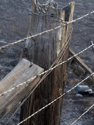 A study determined while fire may discolor barbed wire, it does not necessarily weaken it.