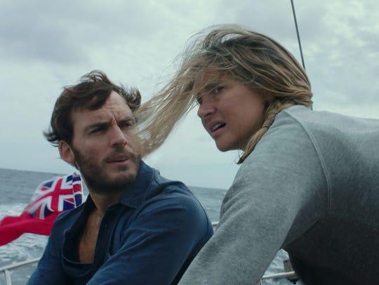 Sam Claflin and Shailene Woodley hit a storm at sea