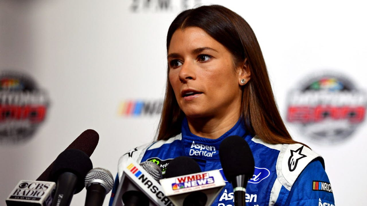 Danica Patrick says she loves being a racecar driver,