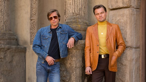 Brad Pitt and Leonardo DiCaprio are seen in all their