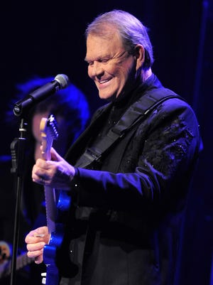 Glen Campbell performs at the Ryman Auditorium in 2012.