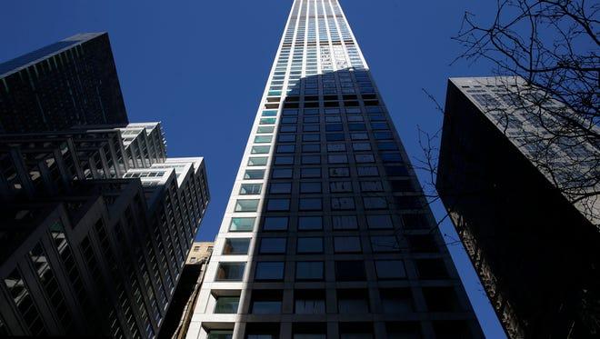 A building at 432 Park Ave. is still under construction in Manhattan, New York, Thursday, Feb. 18, 2016.