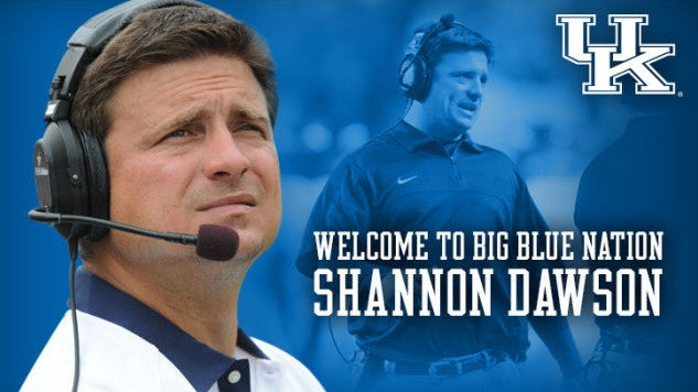New UK offensive coordinator Shannon Dawson.