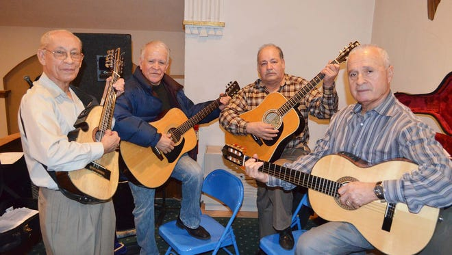 The Four Amigos who perform at the Spanish Mass on Sundays at St. Benedict the Abbot  Church in Lebanon are (from left): Jose Soto, Nicolas Ruiz, Manuel Tinoco, and Tony Gonzalez.