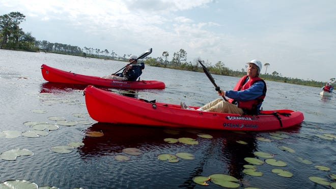 Savannas Preserve State Park off of Walton Road in Port St. Lucie has kayaking and canoeing most Saturdays.