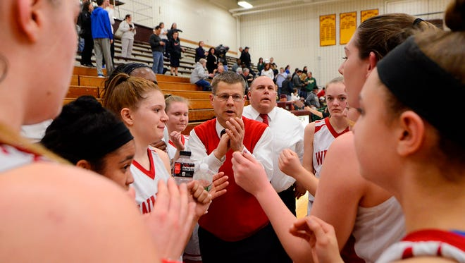 Susquehannock girls' basketball head coach Dave Schreiner, seen here in a file photo, has led the Warriors to a 7-0 start this season. YORK DISPATCH FILE PHOTO