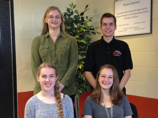 Four SHS students, Joshua Clarkson, Rebecca Dry, Caroline Evans, and Courtney Johnson have been named commended students by the National Merit Scholarship program, according to Gerard Foley, SHS principal.
