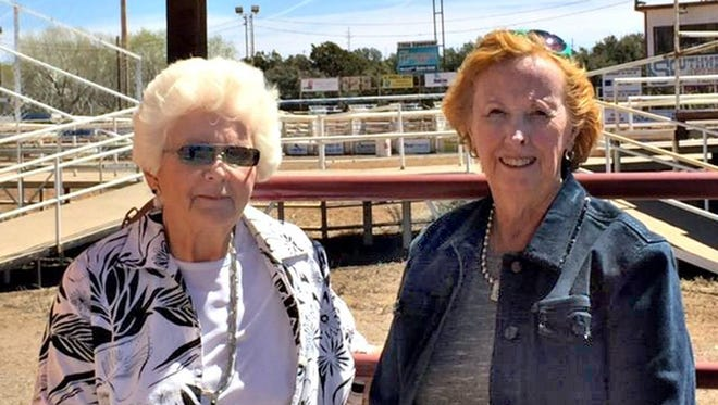 Copper Cowbelles member Bobbie Little-Neal, at left, has been named 2015 Cowbelle of the Year. She is seen with Jo Ann Miller, 2015 president of the Copper Cowbelles.
