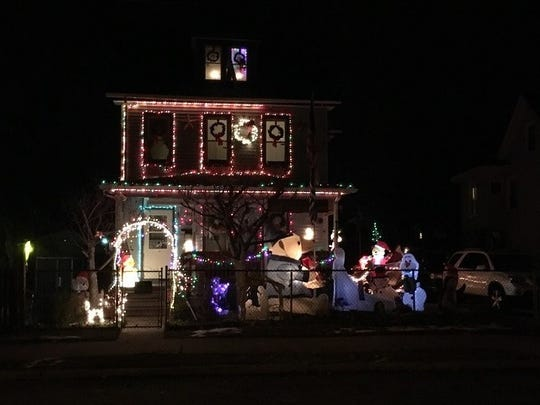 The Gehring Family's display at715 N. 4th St., captured