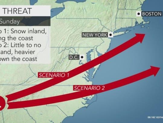 A storm could bring snow to the Lower Hudson Valley