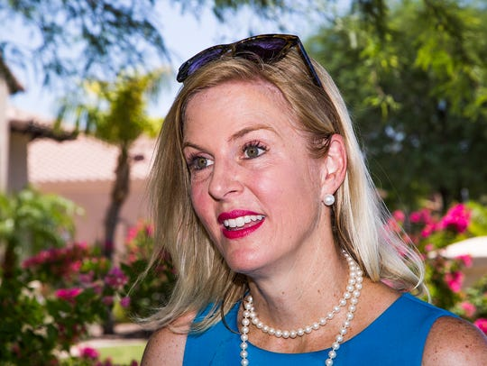 Kristina Kelly canvasses a neighborhood in Scottsdale,