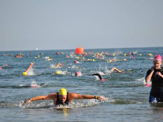 Sodus Point Triathlon 2014 Swim