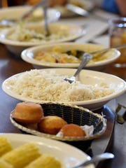 Forget that low-carb diet: The Dinner Bell is your place for down-home Southern cooking, including corn on the cob, homemade cornbread, rice and gravy, and other yummy dishes.