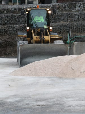 In preparation for another snowstown in January, the Ramapo Highway Department preps its salt.