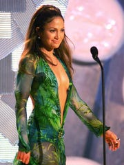 In 2000, adhesive was used to prevent Jennifer Lopez's