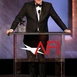 Honoree Steve Martin accepts his award at the 43rd AFI Lifetime Achievement Award Tribute Gala at the Dolby Theatre on Thursday, June 4, 2015, in Los Angeles.