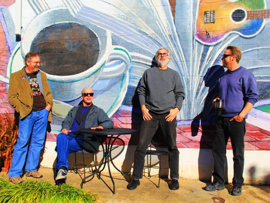"""The Clinton Four"" features work by artists, from left, Sam Beibers, Wyatt Waters, Ron Lindsey and Paul Fayard."