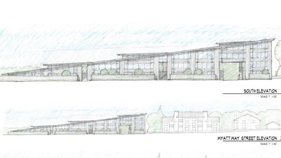 Concept design by Cutler Anderson Architects showing