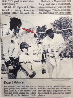 This 1970s clipping shows former New York Met Ed Hearn as a kid with Boston's Bill Buckner. The two would cross paths in the 1986 World Series.