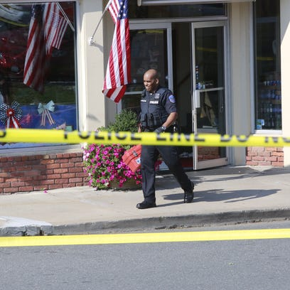 New Castle Police are at the scene of a shooting at