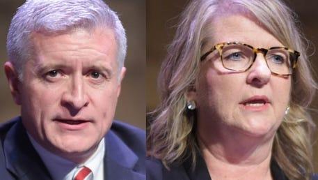 Republican Jason Elliott and State Rep. Wendy Nanney.