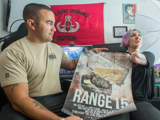 Army veteran Mary Dague, right, and her active duty
