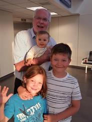 Al Morkunas with his niece Erin Mendenhall's children