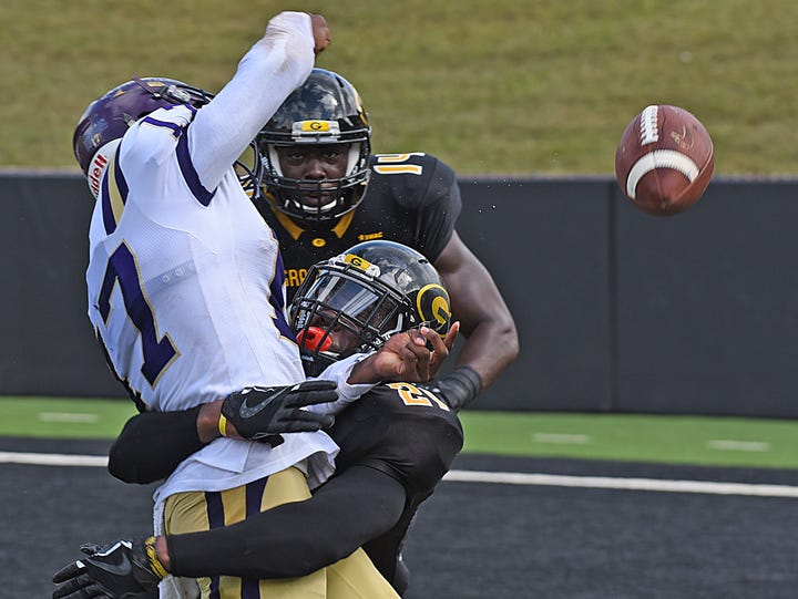 Grambling State junior safety Percy Cargo Jr. (21)