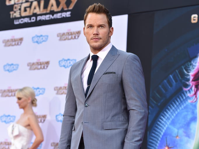 "Chris Pratt arrives at the premiere of ""The Guardians Of The Galaxy"" at El Capitan Theatre on Monday, July 21, 2014, in Los Angeles. (Photo by John Shearer/Invision/AP)"