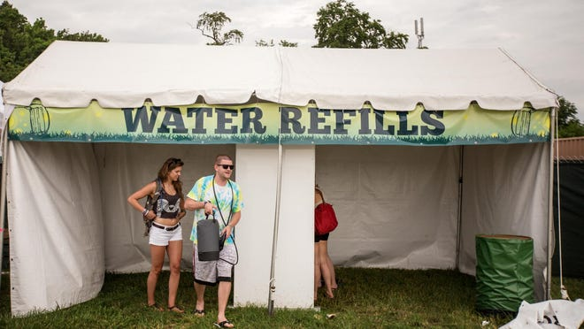 Take a refillable water bottle so you stay hydrated during the music marathon that is Firefly.