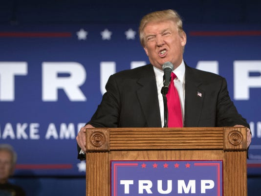 Republican presidential hopeful Donald Trump speaks at his campaign kickoff rally on July 21 in Bluffton, S.C.