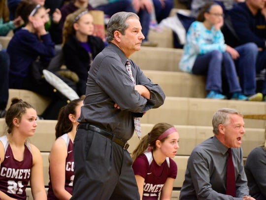 Genoa's Mike DeStazio will retire as basketball coach after the season.