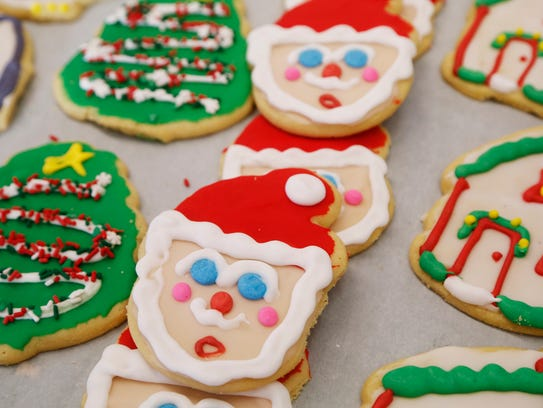 A variety of Christmas cookies to temp holiday shoppers