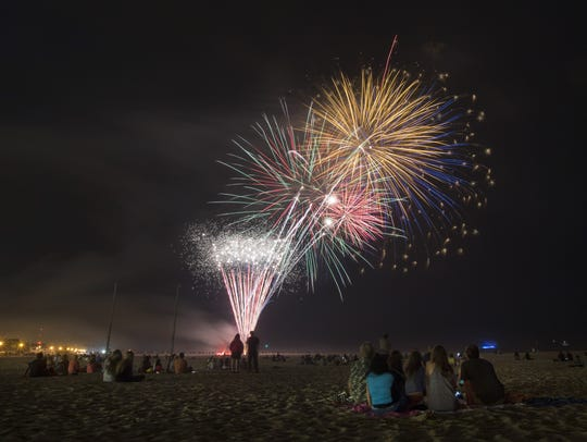 Fireworks at Jenkinson's at Point Pleasant Beach in