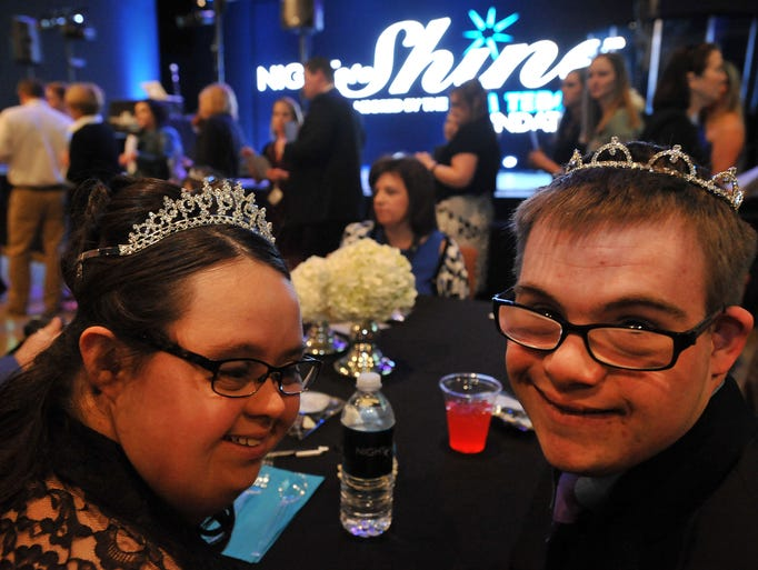 Victoria Conwell, left, and her prom date, Matt Janego