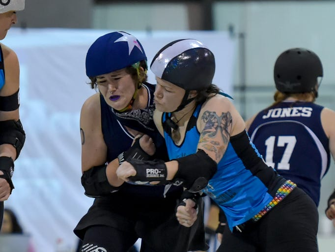 The Acadiana Roller Girls take on Spindletop Roller