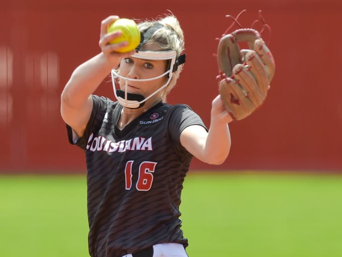 UL pitcher Alyssa Denham stole the show early on for