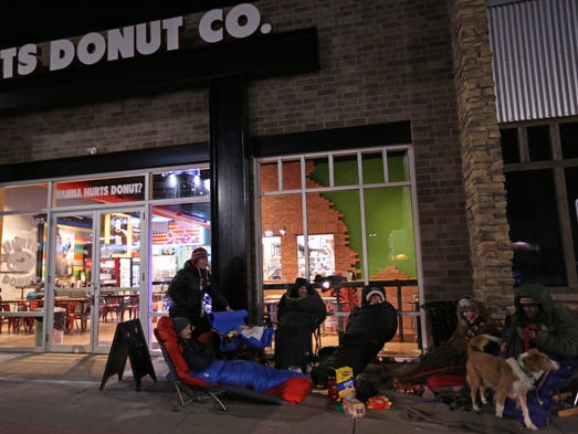 A group of 10 people set-up camp on Tuesday, Dec. 6,