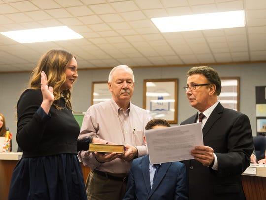 Meghan Spinelli is sworn into the Vineland Public School