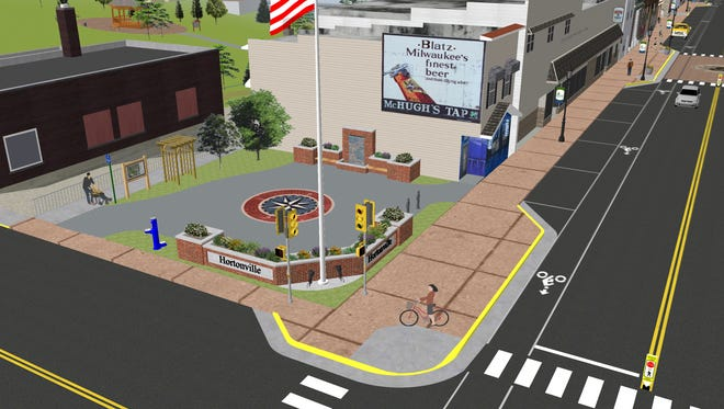 Rendering of Hortonville Memorial Square
