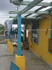 Yolanda Olmeda's house after Hurricane Maria