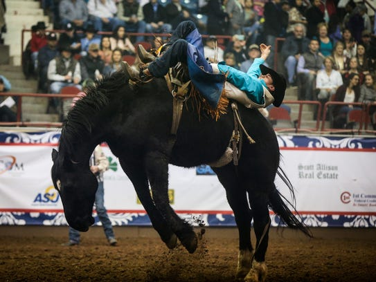"""MARK OUTIn the bareback and saddle bronc riding, a cowboy's feet must be above the point of the horse's shoulders when the horse's front feet hit the ground – if so, he """"marked the horse out,"""" but if not, he """"missed the horse out"""" and the ride is disqualified."""