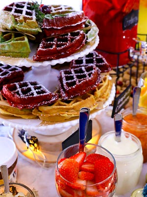 "The waffles, and the wine, are wonderful at ""Wine & Waffles"" in downtown Titusville Friday, Feb. 23."