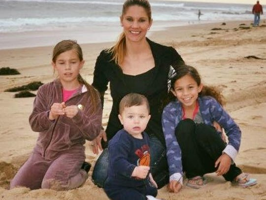 Michelle Littleton and her children Ascila, Yousef